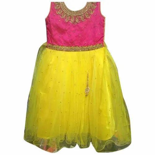88f077dc19c0 Party Wear Net Kids Stylish Frock, Size: 20-32, Rs 450 /piece | ID ...