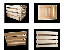 Wooden Slotted Crate To Carry Vessels