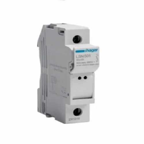 white hager lsn501 1p 32a 690v l38 1m fuse carrier, | id: 13037362230  indiamart