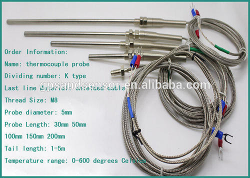 K J Type Thermocouple Probe With Canthol Wire At Rs 110
