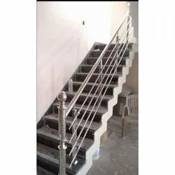 Jindal Raw Material Panel Stainless steel staircase railing, For Residential