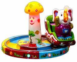 Elephant Train Kiddie Amusement Ride Game
