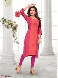 Best Rayon Embroidered Printed Kurti