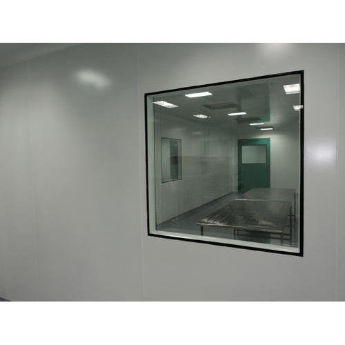 Glass Clean Room Flush Window