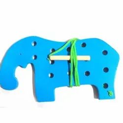 Lacing Big Elephant Toy