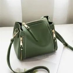 LSB14 - Pure Cow Green Leather Women Shoulder Office Bag