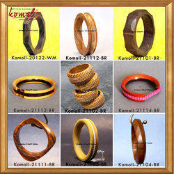 Handmade Wooden Bangle Bracelets Carved Bangle