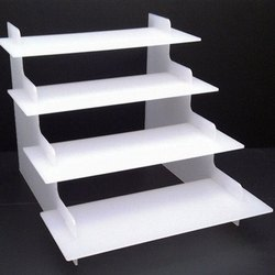 White Acrylic Display Stand, Size: 12x9x12 Inch
