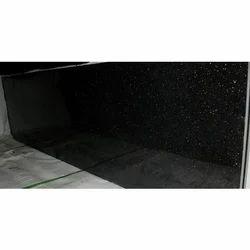 Dark Black Granite Slab, Thickness: 5-10 mm