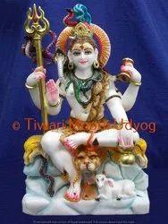 White Marble Mahadev Statue