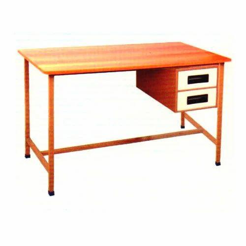 Metal Rectangular Office Cabin Table Storage Drawers Yes Seating