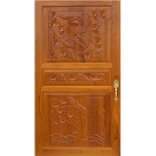 Swastik Polished Designer Wooden Door