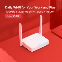 White Mercusys Wireless n Router Mw302r, For Internet, 300 Mbps