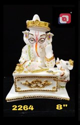 Artificial Gold Polyresin Lord Ganesha With Specs