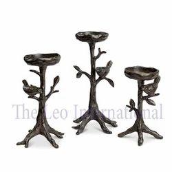 Decorative metal Candle Holder tree and bird design