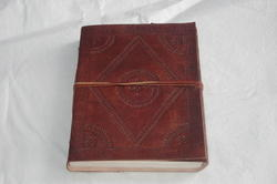 Vintage Leather Embossed Writing Journal