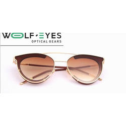 Wolf eyes Ladies Metal Frame Aviator Sunglasses