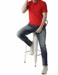 Stylish Red Collar Polo Neck T Shirts