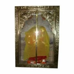 Opener Brass Temple Gate Frame, Polished