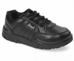 Paragon Boys Black School Shoes