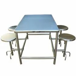 Four Seaters Canteen Dining Table