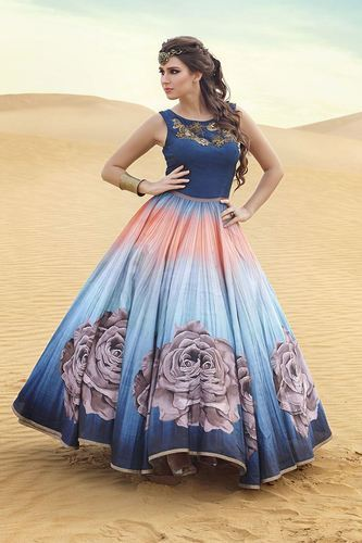 d96ff989e4c New Designer Women s Fashion Floral Printed Party Wear Gown at Rs ...