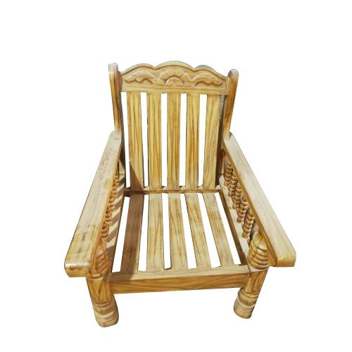 Pleasing Teak Wood Single Seater Sofa Pabps2019 Chair Design Images Pabps2019Com