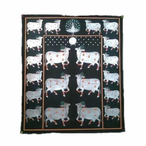 Kamdhenu Cows Tanjore Painting