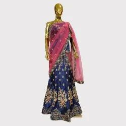 Navy Blue Fancy Lehenga