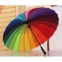 Multi-Color Rainbow Umbrella For Girls Rainbow Umbrella For Men - Rainbow Umbrella
