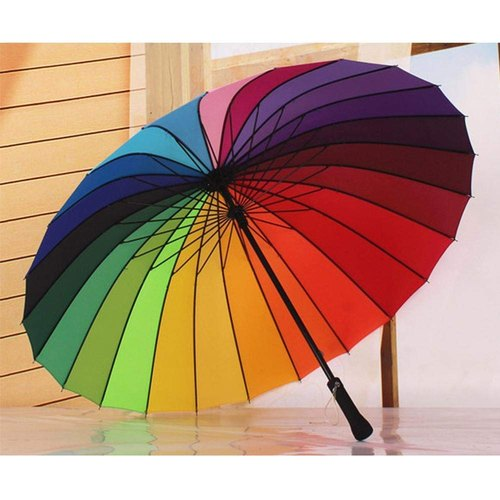 Multi-Color Rainbow Umbrella For Girls Rainbow Umbrella For Men - Rainbow Umbrella