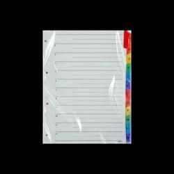 1 to 12 Plastic File Separator
