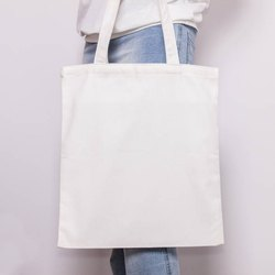 White Cotton Grocery Bag, Size/Dimension: 18 X 20