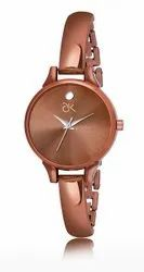 Round Casual Watches ADK Brown Color Analog Wrist Watch For Girls-AD-22, For Daily