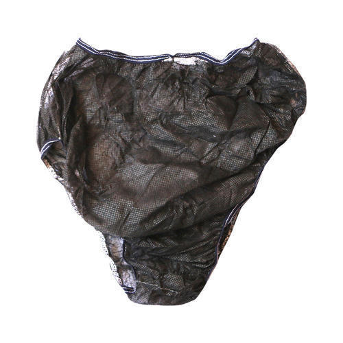 f9856c6e33d7 Black Non Woven 25 GSM Albio Disposable Panty & Brief for Spa, Salon,  Hospital