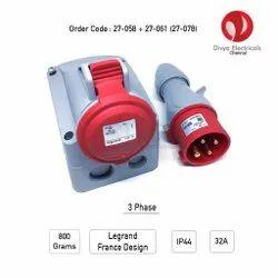 Industrial Plug & socket 3 phase