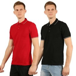 Mens Collar Neck Half Sleeve T-Shirt