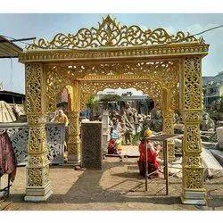Decorative Fiber Wedding Gate and mandap