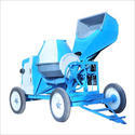 Blue, White Universal Concrete Mixer Machine