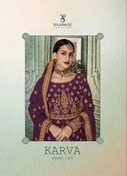 Textile Mall Sajawat Creation Karva Special Designer Salwar Kameez Catalog Collection