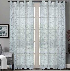 52 X 90 Inch Floral Paisley Champagne  Sheer Curtain