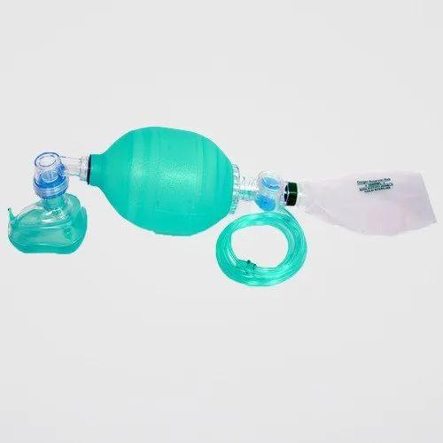 White,Green Cilocone Artificial Resuscitator Silicone Bag, for Hospital, for Clinical Purpose