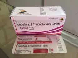 Sufinac-TH4 Aceclofenac 100mg & Thiocolchicoside 4mg Tablets