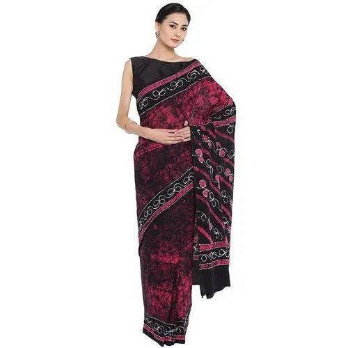 Blocks Bagru Multicolor Ladies Hand Printed Cotton Saree, Packaging Type: Packet, Handwash