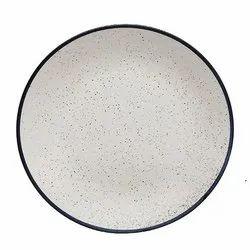 Dot Printed Ceramic Plate