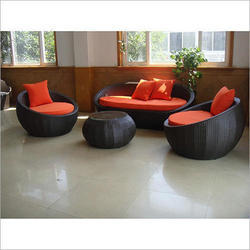Cane Wicker Sofa Set