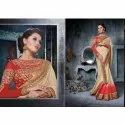 Party Wear Bordered Silk Saree, 6 M (with Blouse Piece)