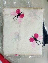 White Casual Ladies Cotton Salwar Suit, Machine wash