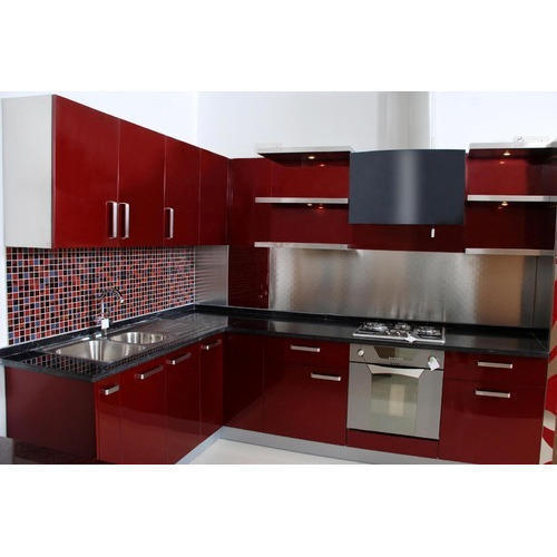 Aluminium Modular Kitchen At Rs 1100 Square Feet: MDF Modular Kitchen At Rs 350 /square Feet