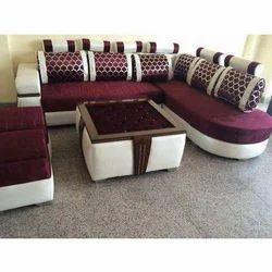 White And Red RK-SF 0005 Modular Sofa Set, Seating Capacity: 6 Seater
